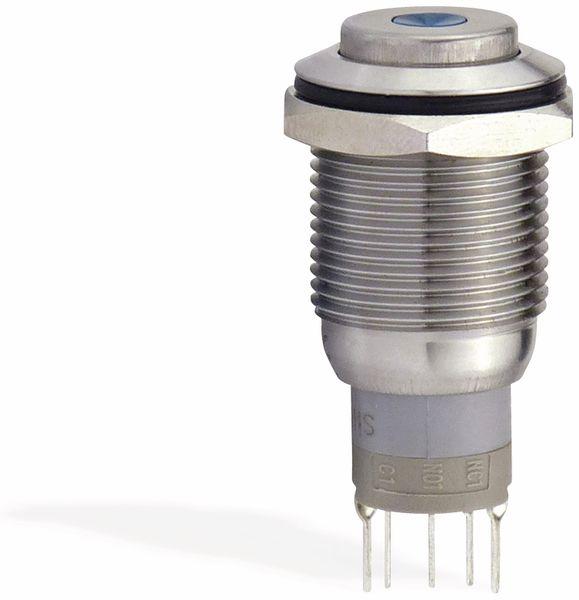 Metalltaster 16 mm mit LED Punktbel. rot , 1 x UM, 250 V~, 3 A - Produktbild 2