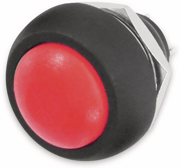 Drucktaster rot Ø 17,5mm, 36V/1A, 1-polig, Schließer, Lötanschluss