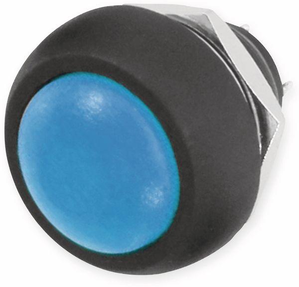 Drucktaster blau Ø 17,5mm, 36V/1A, 1-polig, Schließer, Lötanschluss