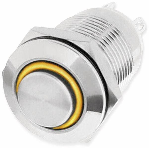 LED-Drucktaster, Ringbeleuchtung orange 12 V, Ø12 mm, 2 A/48 V