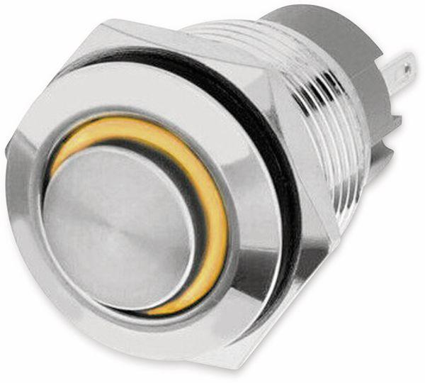 LED-Druckschalter, Ringbeleuchtung orange 12 V, Ø16 mm, 5 A/48 V