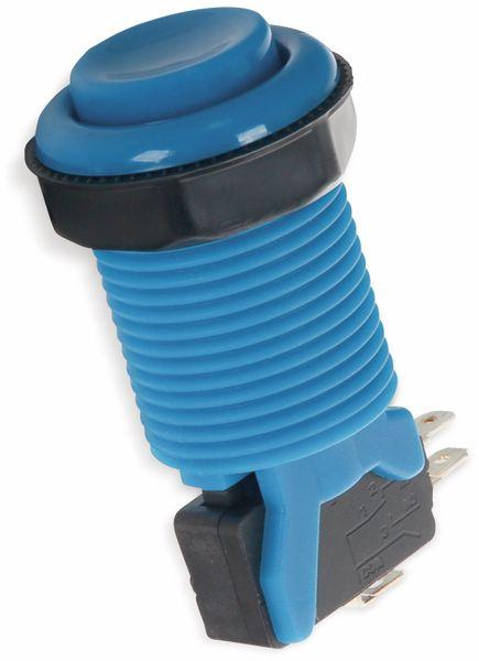 Arcade Taster mit Mikroschalter, blau, Ø 33 mm