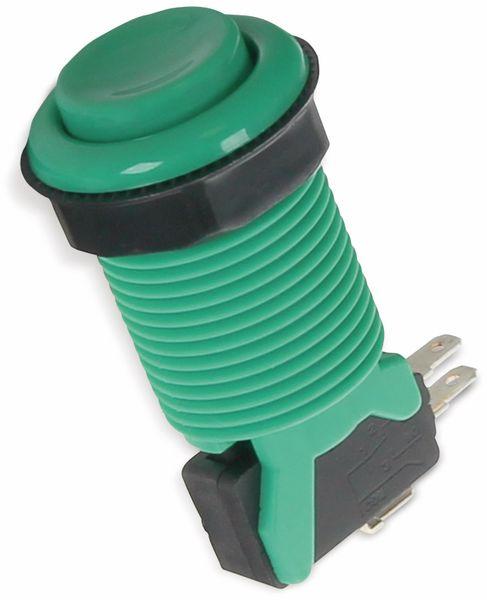 Arcade Taster mit Mikroschalter, grün, Ø 33 mm