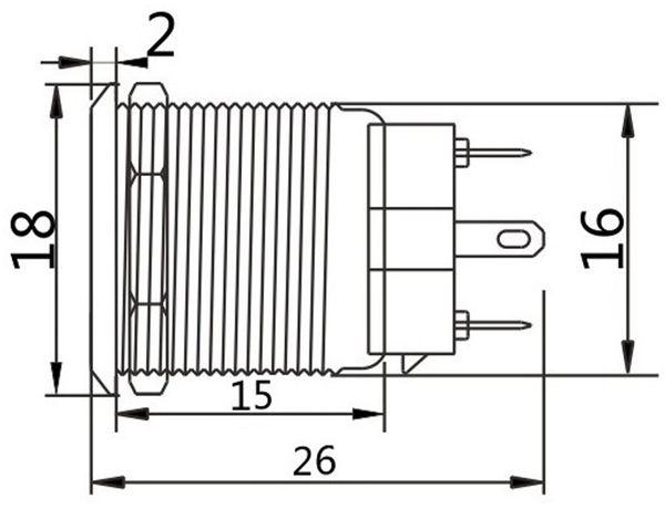 Drucktaster, Ø16 mm, 5 A/48 V - Produktbild 2