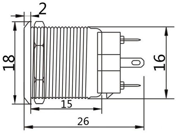 Druckschalter, Ø16 mm, 5 A/48 V - Produktbild 2