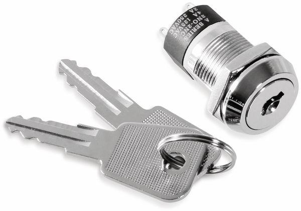 Schlüsselschalter, Ø19 mm, 2x EIN/AUS, Tiefe 33 mm