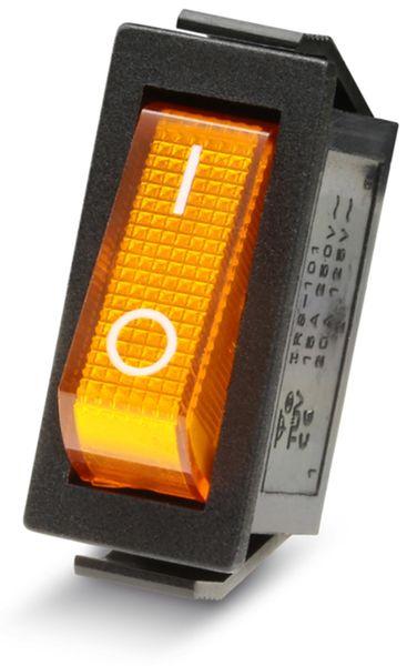Wippenschalter 1-pol., I-0, gelb beleuchtet, 27x10,5 mm - Produktbild 2