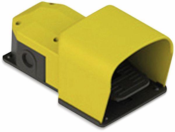 PIZZATO, PX10211-M2, Fußschalter, 250 V/AC, 6 A, 1 Pedal und Schutzgeh., 2 Schließer 2 Öffner, IP65