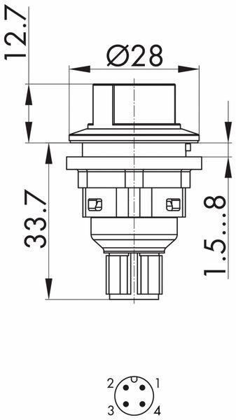 Schlegel, Wahlschalter rastend mit M12-Anschluss 4-polig; SVAWBII_C009 - Produktbild 5