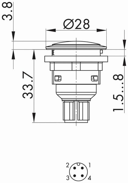 Schlegel, Meldeleuchte mit M12-Anschluss 4-polig; SVAN_C010 - Produktbild 3