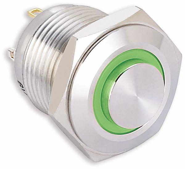 Vandalismusgeschützter Taster, ONPOW, 220 V/AC, 0,5 A, 1NO, grün