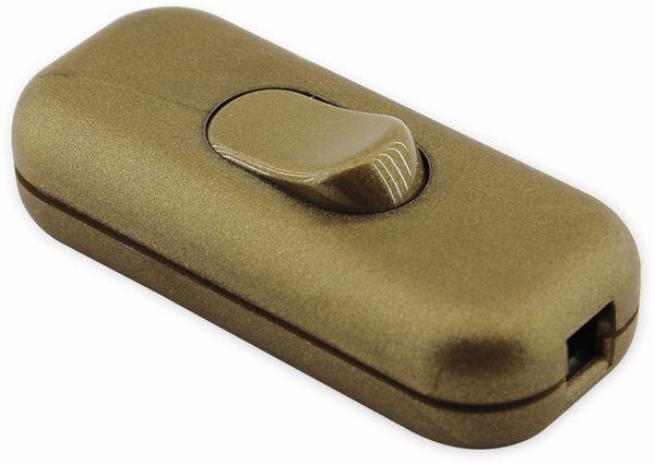 Schnurzwischenschalter, Arditi, 250V, 2A, gold