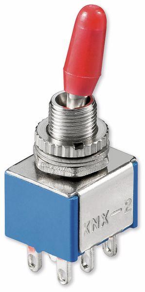 Kippschalter Miniatur, Goobay, 250 V/AC, 3 A, 2 x EIN-EIN