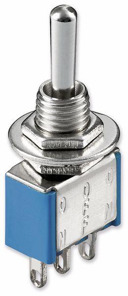 Kippschalter Miniatur, Goobay, 250 V/AC, 3 A, EIN-AUS-EIN