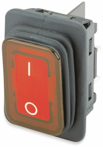 Wippenschalter, MARQUARDT, 01935.3112, rastend, 250 V/AC, 16 A, 2 x AUS/EIN