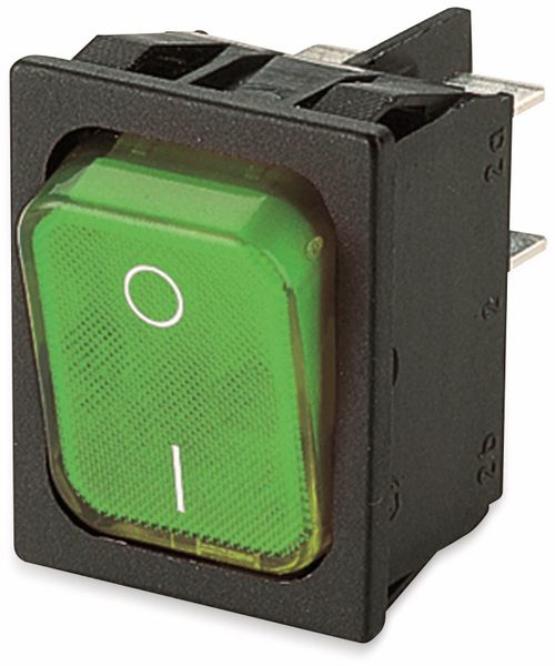 Wippenschalter, MARQUARDT, 01835.3118, rastend, 250 V/AC, 20 A, 2 x AUS/EIN
