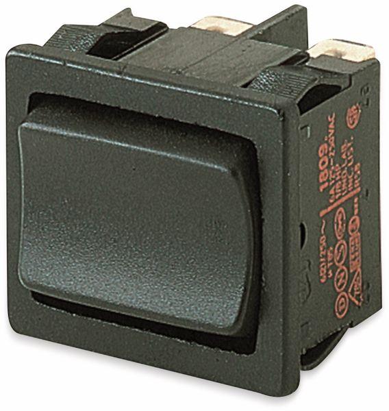 Wippenschalter, MARQUARDT, 01809.1102, rastend/0/rastend, 250 V/AC, 6 A, 2 x EIN/AUS/EIN