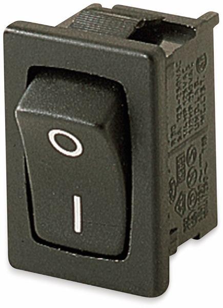 Wippenschalter, MARQUARDT, 01801.6115, rastend, 250 V/AC, 6 A, 1 x AUS/EIN