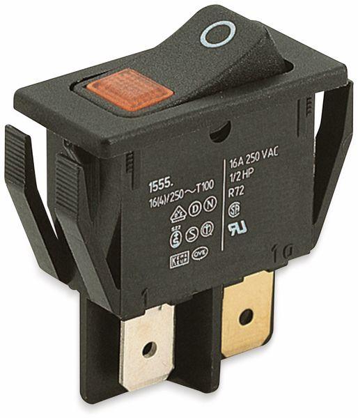 Wippenschalter, MARQUARDT, 01555.3104, rastend, 250 V/AC, 16 A, 2 x AUS/EIN