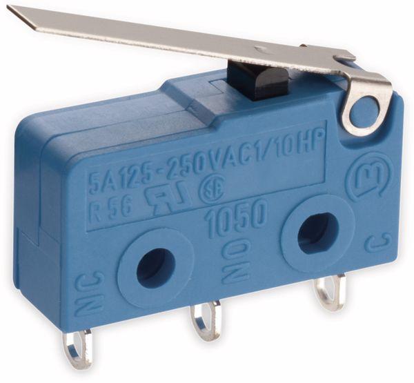 Mikroschalter, MARQUARDT, 01050.5202, tastend, 250 V/AC, 10 A, 1 x EIN/(EIN)