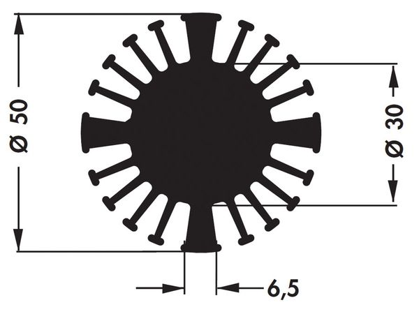 Kühlkörper für COB-LED FISCHER SK60215SA - Produktbild 4