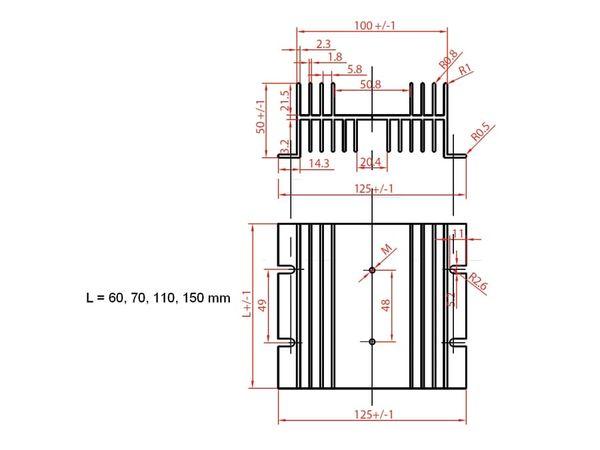 Strangkühlkörper KAB-60/125/50 - Produktbild 2