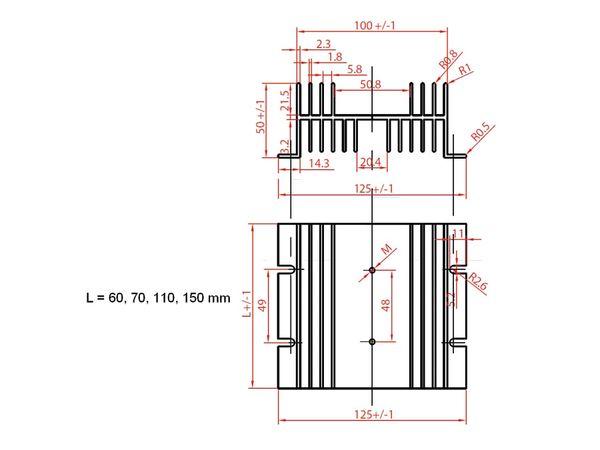 Strangkühlkörper KAB-70/125/50 - Produktbild 2