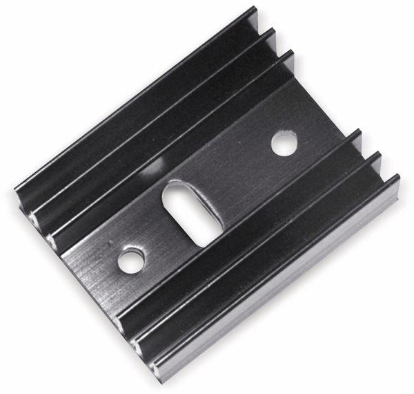 Strangkühlkörper TO 220 9 K/W Aluminium schwarz - Produktbild 1