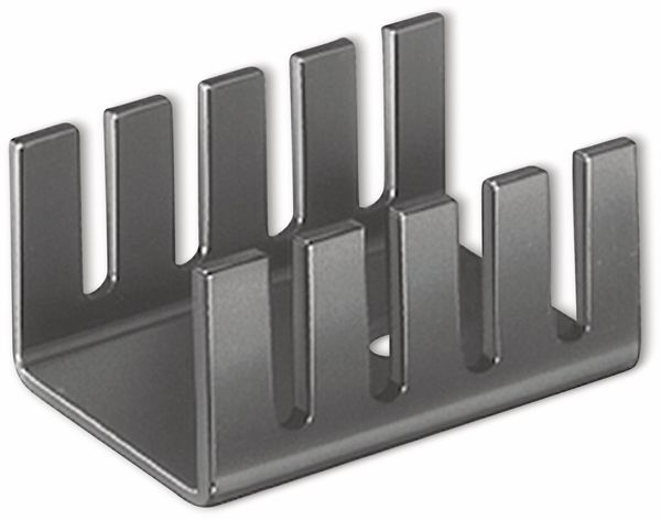 Kühlkörper, Fischer Elektronik, FK 231 SA220, Fingerkühlkörper, schwarz, Aluminium