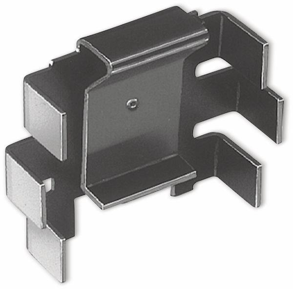 Kühlkörper, Fischer Elektronik, FK 220 SA 220, Fingerkühlkörper, schwarz, Aluminium