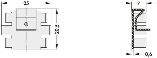 Kühlkörper, Fischer Elektronik, FK 220 SA 220, Fingerkühlkörper, schwarz, Aluminium - Produktbild 2