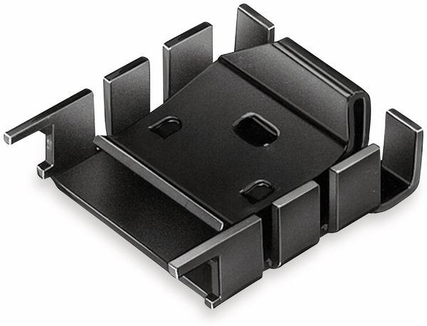 Kühlkörper, Fischer Elektronik, FK 224 SA 218 1, Fingerkühlkörper, schwarz, Aluminium