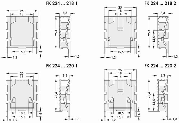 Kühlkörper, Fischer Elektronik, FK 224 SA 218 1, Fingerkühlkörper, schwarz, Aluminium - Produktbild 2