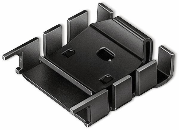 Kühlkörper, Fischer Elektronik, FK 224 MI 218-1, Fingerkühlkörper, schwarz, Aluminium