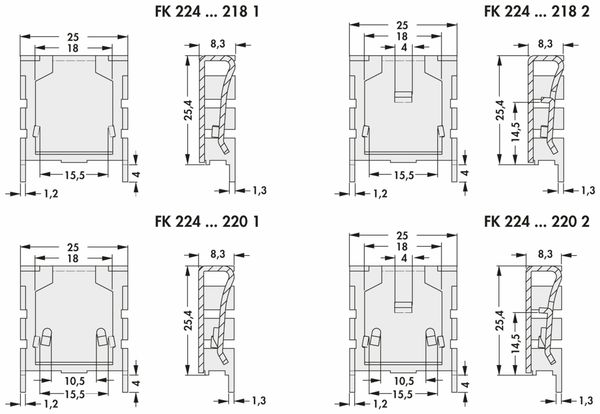 Kühlkörper, Fischer Elektronik, FK 224 MI 218-1, Fingerkühlkörper, schwarz, Aluminium - Produktbild 2