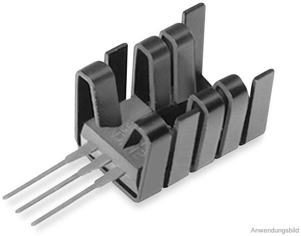 Kühlkörper, Fischer Elektronik, FK 237 SA220 O, Fingerkühlkörper, schwarz, Aluminium