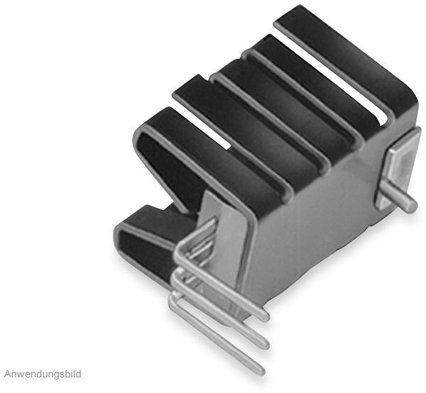 Kühlkörper, Fischer Elektronik, FK 237 SA220 H, Fingerkühlkörper, schwarz, Aluminium