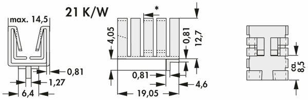 Kühlkörper, Fischer Elektronik, FK 237 SA220 H, Fingerkühlkörper, schwarz, Aluminium - Produktbild 2