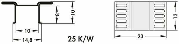 Kühlkörper, Fischer Elektronik, FK 244 13 D PAK, SMD Kühlkörper, blank, Aluminium - Produktbild 3