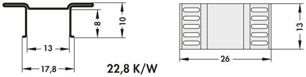 Kühlkörper, Fischer Elektronik, FK 244 13 D2 PAK, SMD Kühlkörper, blank, Aluminium - Produktbild 3