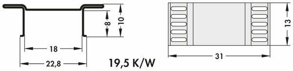 Kühlkörper, Fischer Elektronik, FK 244 13D 3 PAK, SMD Kühlkörper, blank, Aluminium - Produktbild 3