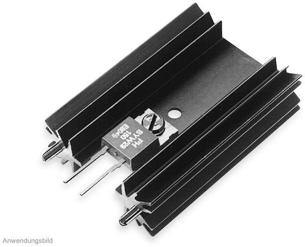 Kühlkörper, Fischer Elektronik, SK 104 50,8 STS, Leiterkartenkühlkörper , schwarz, Aluminium