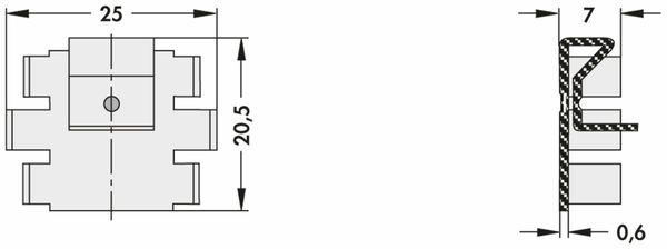 Kühlkörper, Fischer Elektronik, SK 104 25,4 STC, Leiterkartenkühlkörper , schwarz, Aluminium - Produktbild 2