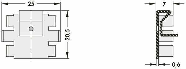 Kühlkörper, Fischer Elektronik, SK 104 38,1 STC, Leiterkartenkühlkörper , schwarz, Aluminium - Produktbild 2