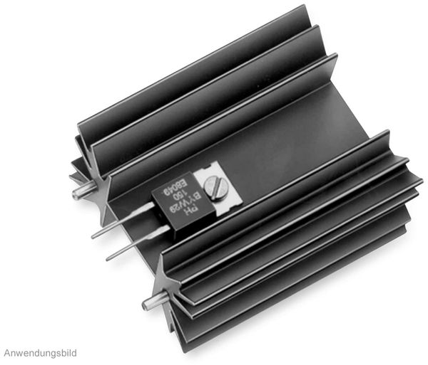 Kühlkörper, Fischer Elektronik, SK 129 25,4 STS, Leiterkartenkühlkörper , schwarz, Aluminium