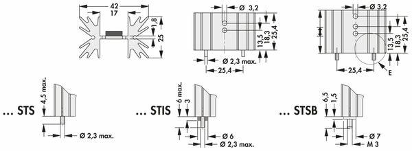 Kühlkörper, Fischer Elektronik, SK 129 25,4 STS, Leiterkartenkühlkörper , schwarz, Aluminium - Produktbild 2