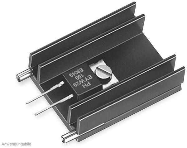 Kühlkörper, Fischer Elektronik, SK 145 25,4 STS, Leiterkartenkühlkörper , schwarz, Aluminium