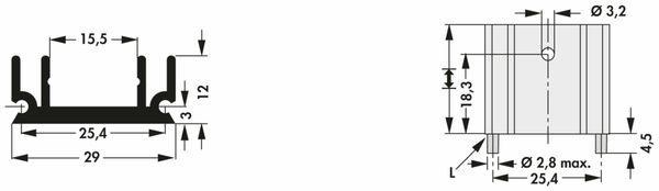 Kühlkörper, Fischer Elektronik, SK 145 25,4 STS, Leiterkartenkühlkörper , schwarz, Aluminium - Produktbild 2