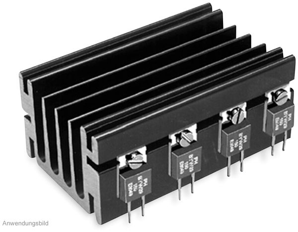 Kühlkörper, Fischer Elektronik, SK 68/ 50 SA, Profilkühlkörper, schwarz, Aluminium