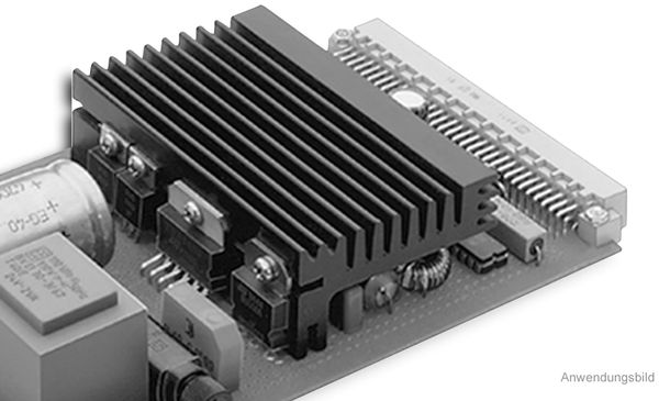 Kühlkörper, Fischer Elektronik, SK 96 50 SA, Profilkühlkörper, schwarz, Aluminium
